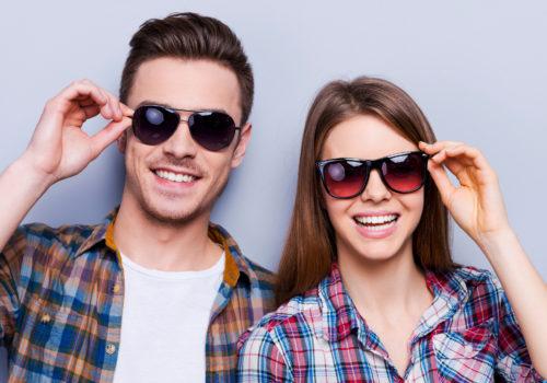 Proteja os seus olhos, com óculos de sol